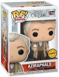 Figurine Funko Pop Good Omens #1077 Aziraphale avec glace [Chase]