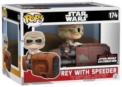 Figurine Funko Pop Star Wars 7 : Le Réveil de la Force #174 Rey - Avec Speeder