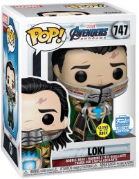 Figurine Funko Pop Avengers : Endgame [Marvel] #747 Loki tenant le Tesseract - Glow In The Dark