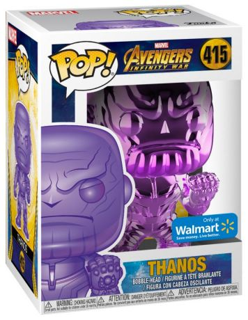 Figurine Funko Pop Avengers : Infinity War [Marvel] #415 Thanos - Point Serré - Chromé Violet