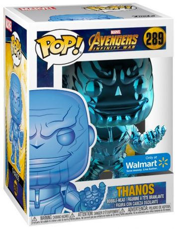 Figurine Funko Pop Avengers : Infinity War [Marvel] #289 Thanos - Chromé Bleu