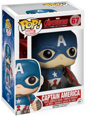 Figurine Funko Pop Avengers : L'Ère d'Ultron [Marvel] #67 Captain America