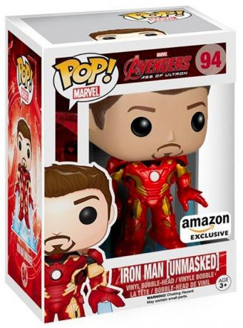 Figurine Funko Pop Avengers : L'Ère d'Ultron [Marvel] #94 Iron Man - Sans Casque