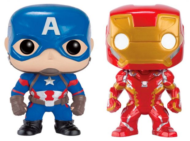Figurine Funko Pop Captain America : Civil War [Marvel] #00 Captain America & Iron Man - 2 Pack