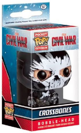 Figurine Funko Pop Captain America : Civil War [Marvel] #00 Crossbones - Porte-clés
