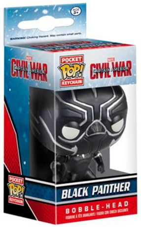 Figurine Funko Pop Captain America : Civil War [Marvel] #00 Black Panther - Porte-clés