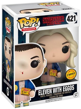 Figurine Funko Pop Stranger Things #421 Onze avec perruque et Eggos [Chase]