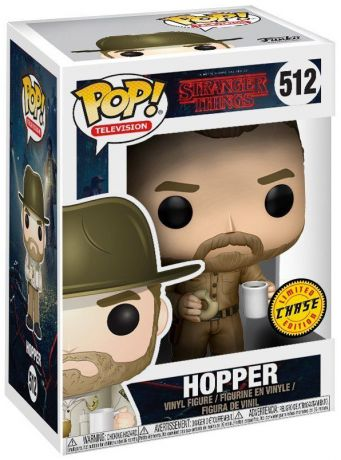 Figurine Funko Pop Stranger Things #512 Hopper - Sans Chapeau [Chase]