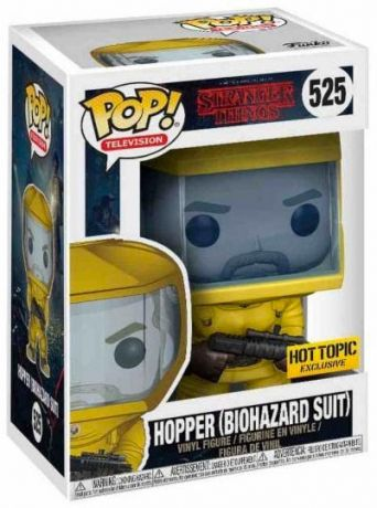 Figurine Funko Pop Stranger Things #525 Hopper - Combinaison Biohazard
