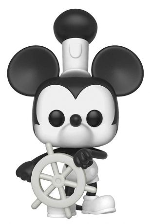 Figurine Funko Pop Mickey Mouse - 90 Ans [Disney] #425 Steamboat Willie - Avec Roue du Bateau