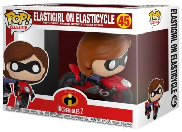 Figurine Funko Pop Les Indestructibles 2 [Disney] #45 Elastigirl sur Elasticycle