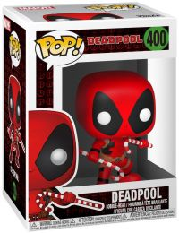 Figurine Funko Pop Deadpool [Marvel] #400 Deadpool - Avec bonbons cannes de Noël