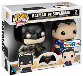 Figurine Funko Pop Batman v Superman : L'Aube de la justice [DC] #0 Batman vs Superman - Metallique - 2 Pack