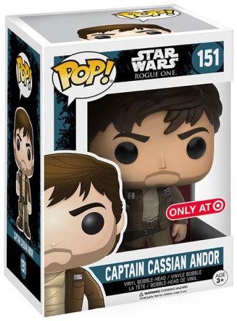 Figurine Funko Pop Rogue One : A Star Wars Story #151 Capitaine Cassian Andor - Veste marron
