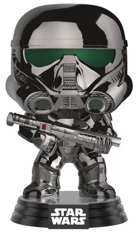 Figurine Funko Pop Rogue One : A Star Wars Story #154 Imperial Death Trooper - Chrome Metallic