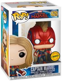 Figurine Funko Pop Captain Marvel [Marvel] #425 Captain Marvel avec casque [Chase]