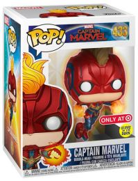 Figurine Funko Pop Captain Marvel [Marvel] #433 Captain Marvel en vol - Brille dans le noir
