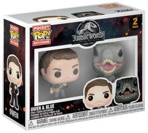 Figurine Funko Pop Jurassic World : Fallen Kingdom #0 Owen & Blue - Porte-clés - 2 Pack