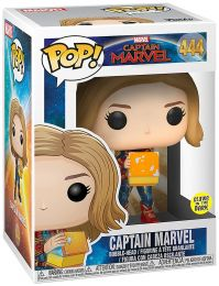 Figurine Funko Pop Captain Marvel [Marvel] #444 Captain Marvel avec Tesseract