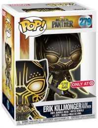 Figurine Funko Pop Black Panther [Marvel] #279 Erik Killmonger - Glow Panther
