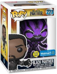 Figurine Funko Pop Black Panther [Marvel] #273 Black Panther Violet - Brille dans le noir