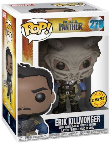Figurine Funko Pop Black Panther [Marvel] #278 Erik Killmonger avec masque [Chase]