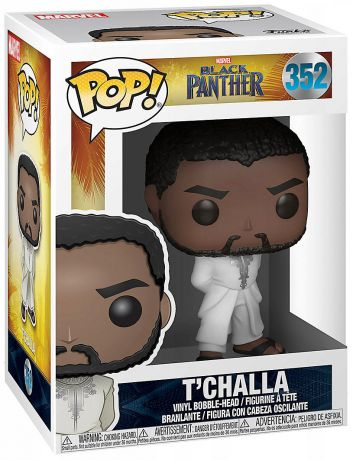 Figurine Funko Pop Black Panther [Marvel] #352 T'Challa - Tenue blanche