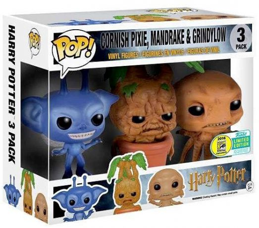 Figurine Funko Pop Harry Potter #00 Pixie, Mandragore & Strangulot - 3 Pack