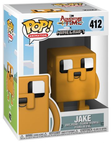 Figurine Funko Pop Adventure Time #412 Jake le chien - Style Minecraft