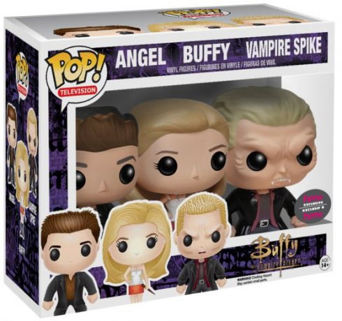 Figurine Funko Pop Buffy contre les vampires #00 Buffy, Angel, Spike - Pack de 3