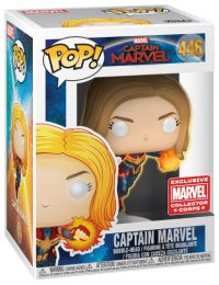 Figurine Funko Pop Captain Marvel [Marvel] #446 Captain Marvel - brillant dans le noir