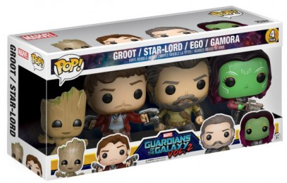 Figurine Funko Pop Les Gardiens de la Galaxie 2 [Marvel] # Ego, Gamora, Star-Lord, Groot - 4 pack