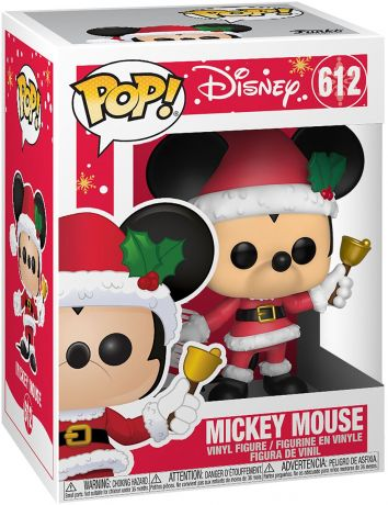 Figurine Funko Pop Mickey Mouse - 90 Ans [Disney] #612 Mickey Mouse en père noël