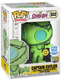 Figurine Funko Pop Scooby-Doo #632 Captain Cutler - brillant dans le noir