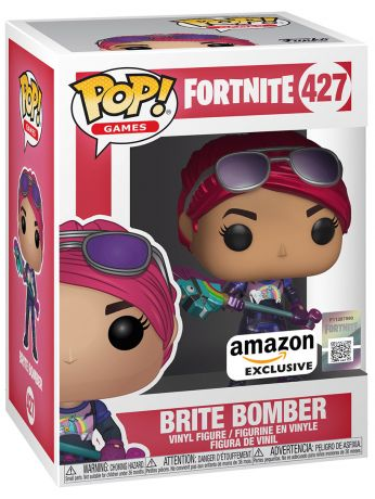 Figurine Funko Pop Fortnite #427 Brite bombardier - Métallique