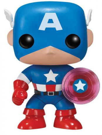 Figurine Funko Pop Marvel Comics #159 Captain America avec bouclier