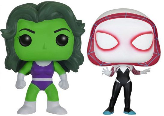 Figurine Funko Pop Marvel Comics #00 She-Hulk & Spider Gwen - 2 pack