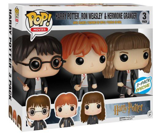 Figurine Funko Pop Harry Potter #00 Harry Ron & Hermione - 3 pack