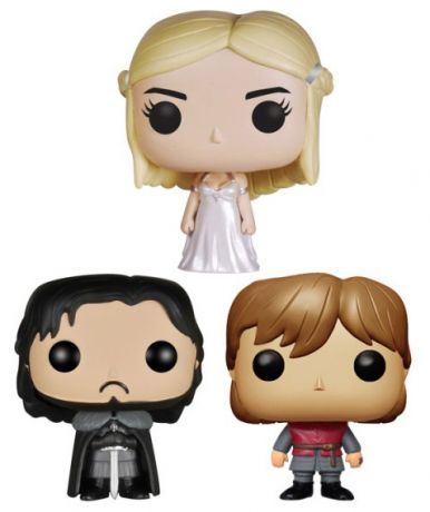 Figurine Funko Pop Game of Thrones #00 Jon, Tyrion & Dany - 3 pack - Pocket