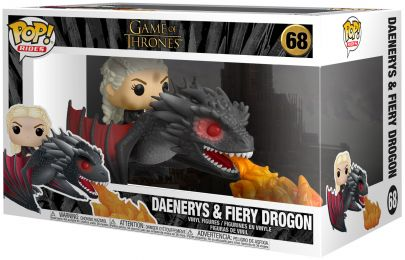 Figurine Funko Pop Game of Thrones #68 Daenerys sur Drogon crachant du feu