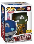 Figurine Funko Pop Tournois des Champions [Marvel] #299 Civil Warrior - Vert - Brillant dans le noir