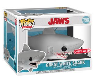 Figurine Funko Pop Les Dents de la Mer #758 Grand requin blanc avec sang - 15 cm