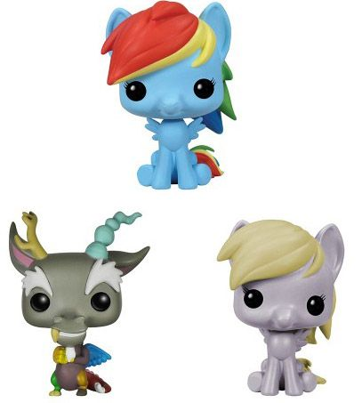 Figurine Funko Pop My Little Pony #00 Rainbow Dash, Discord & Derpy - 3 pack - Pocket