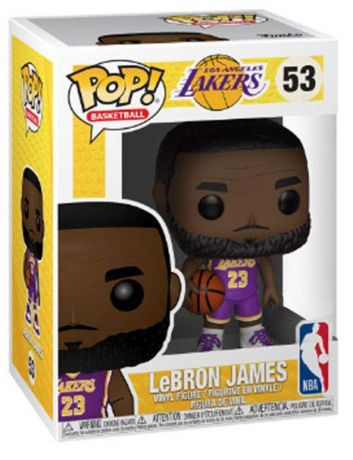 Figurine Funko Pop NBA #53 LeBron James Lakers - Maillot Violet