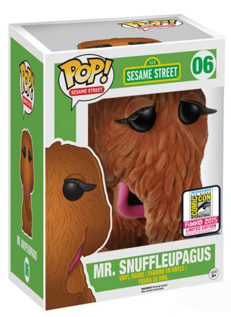 Figurine Funko Pop Sesame Street #06 Mr Snuffleupagus - Floqué & Super sized