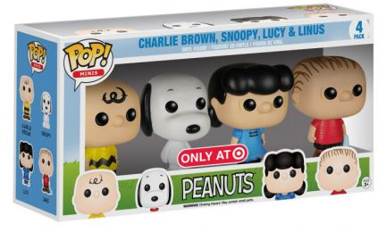 Figurine Funko Pop Snoopy #0 Charlie Brown, Snoopy, Lucy & Linus - 4 pack - Pocket