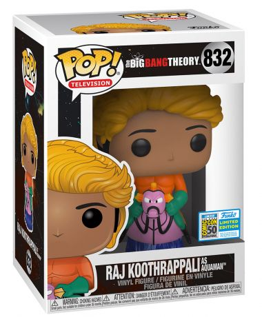Figurine Funko Pop The Big Bang Theory #832 Raj Koothrappali déguisé en Aquaman
