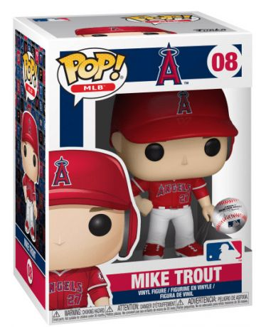 Figurine Funko Pop MLB : Ligue Majeure de Baseball #08 Mike Trout