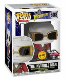 Figurine Funko Pop Universal Monsters #608 L'Homme Invisible - Clear [Chase]