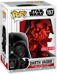 Figurine Funko Pop Star Wars : The Clone Wars #157 Dark Vador - Chromé Rouge